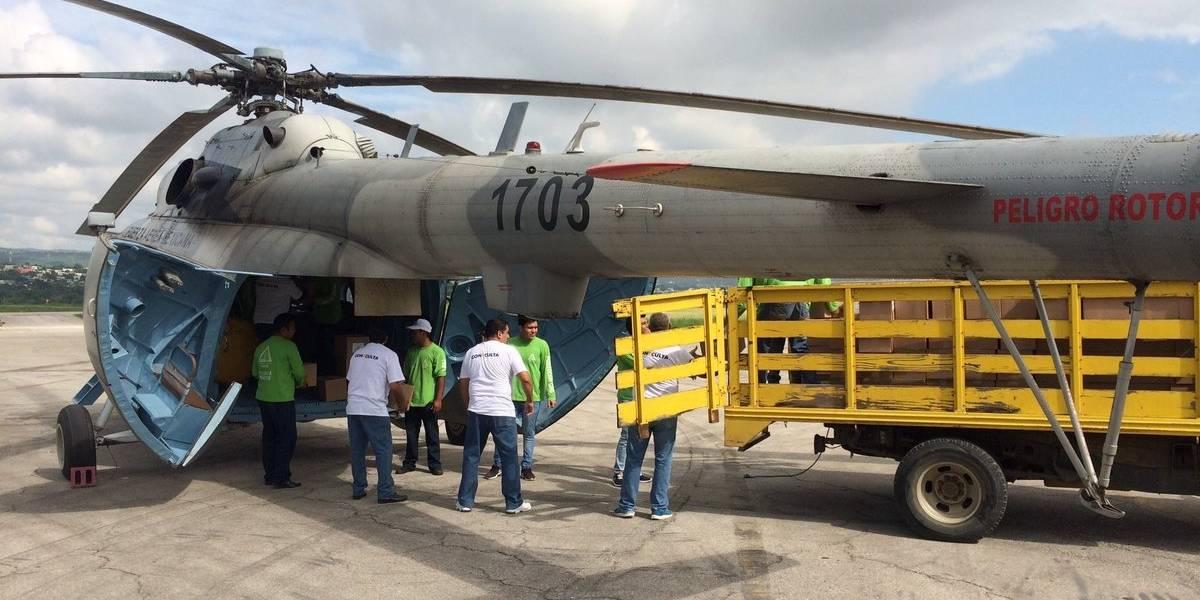 Se desploma helicóptero que llevaba ayuda humanitaria a Jaltenango