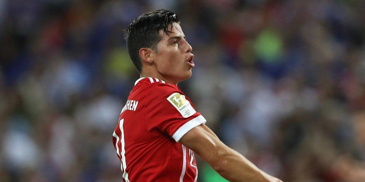 Con un activo James, Bayern Múnich goleó al Anderlecht (3-0)