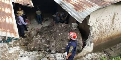 VIDEO. Un fallecido y cinco heridos deja una roca que impacta en una vivienda