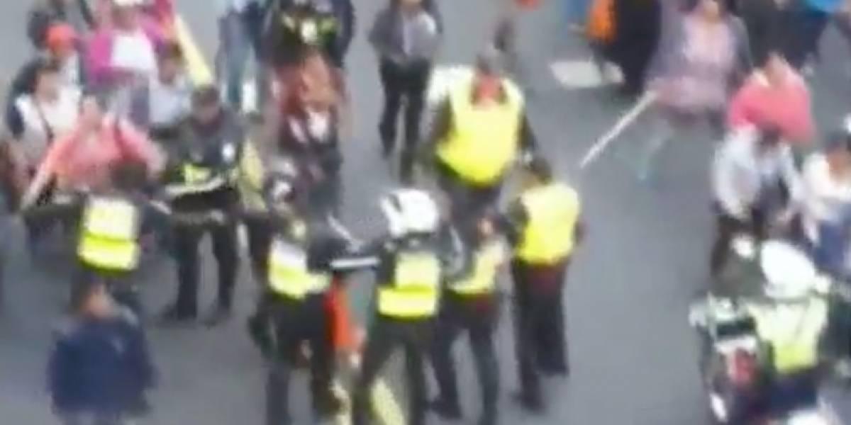 Incidentes entre policías municipales y comerciantes se hace viral