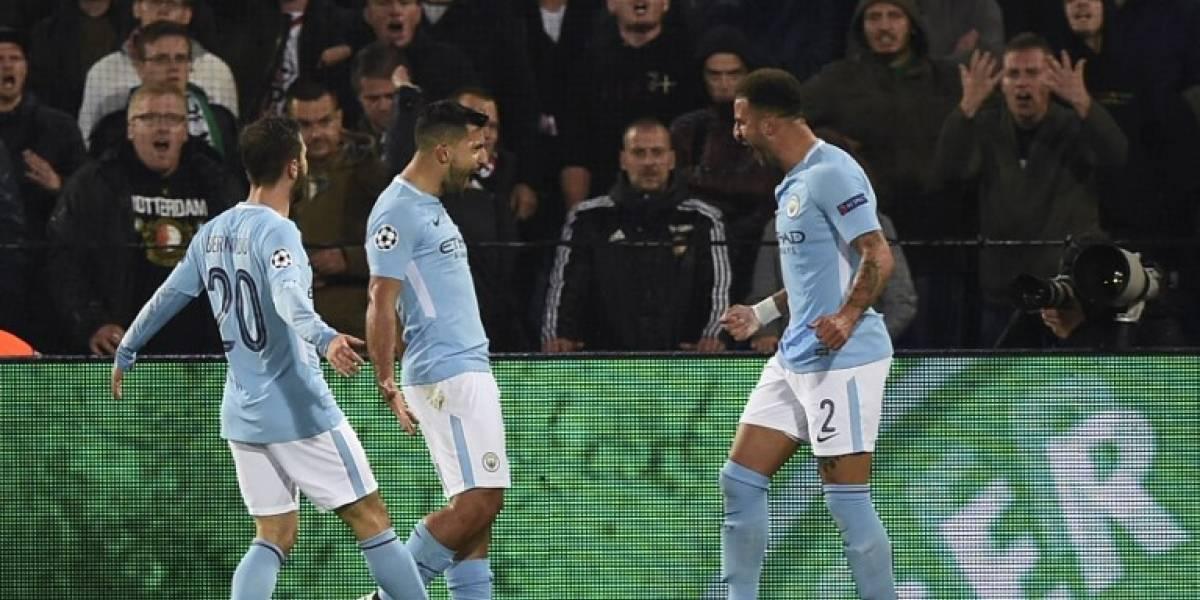 Minuto a minuto: el City con Bravo de suplente golea en la Champions League