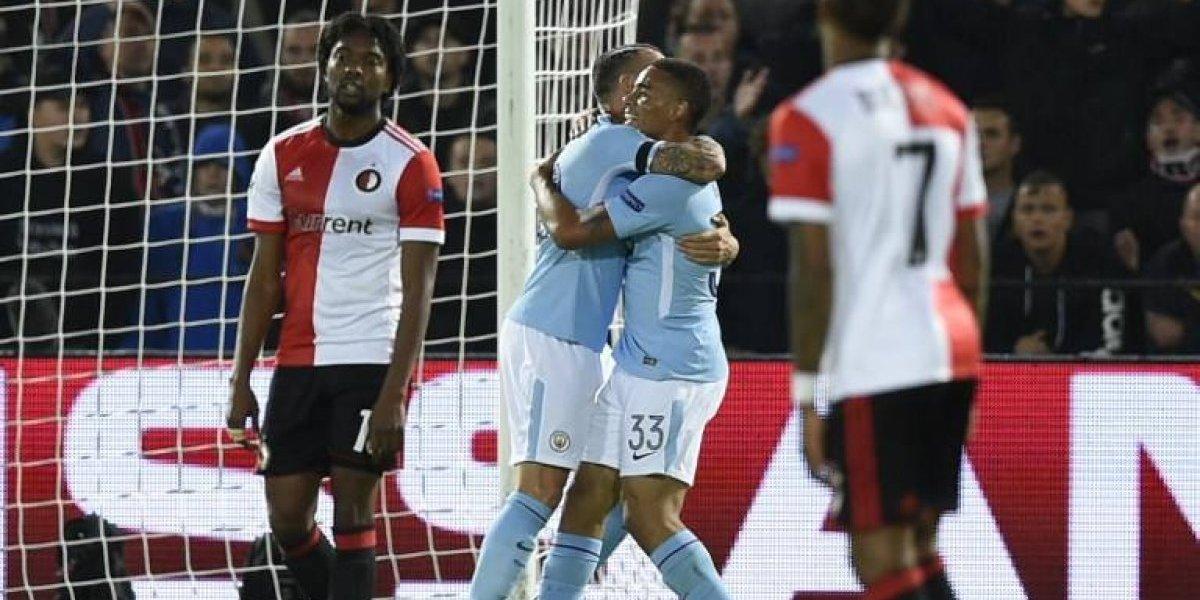 No necesitó a Bravo: Manchester City dio una lección de fútbol y goles al Feyenoord en la Champions