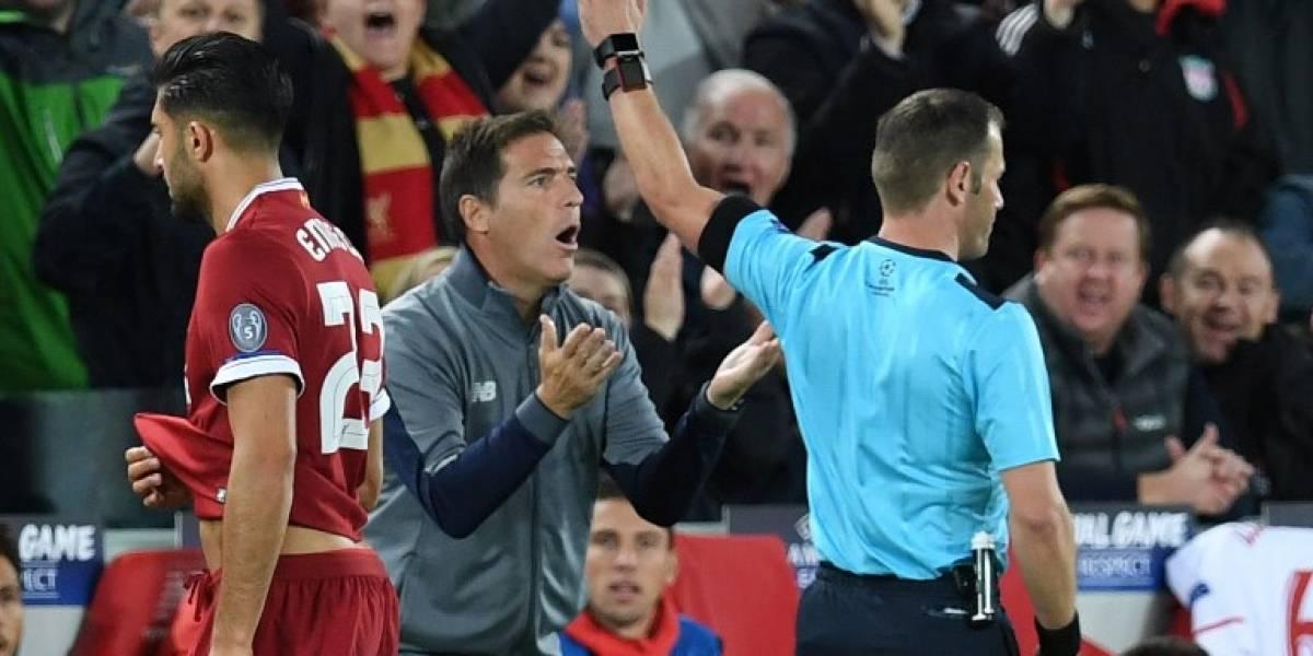 """Berizzo explicó su absurda expulsión en Anfield: """"Reconozco que fue un error"""""""