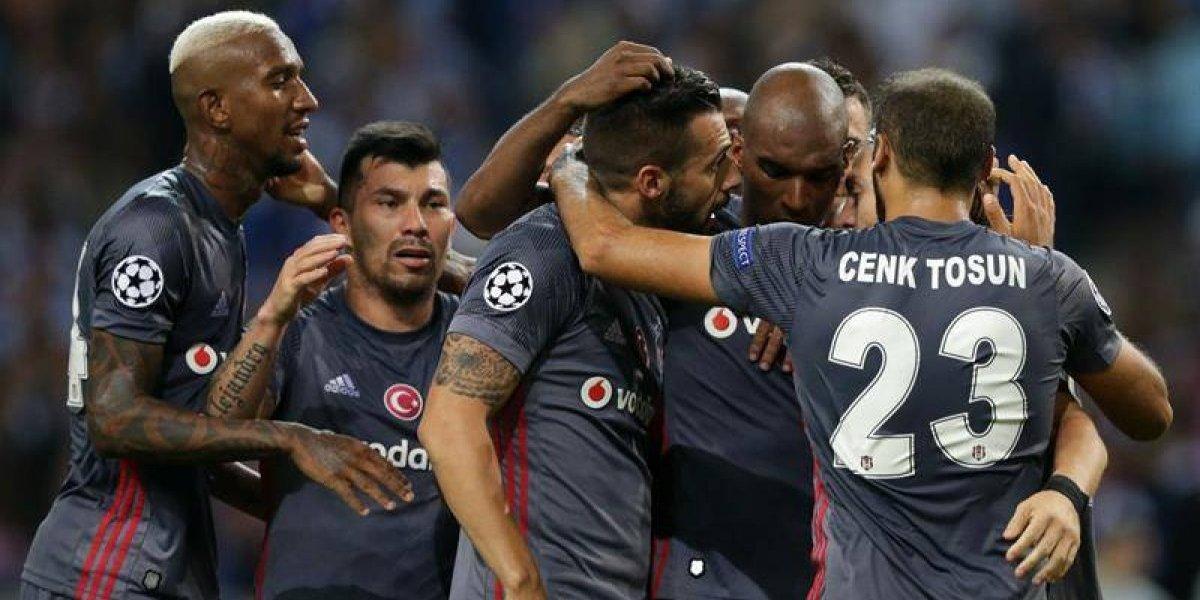 Gary Medel tuvo un triunfal debut en la Champions League con Besiktas