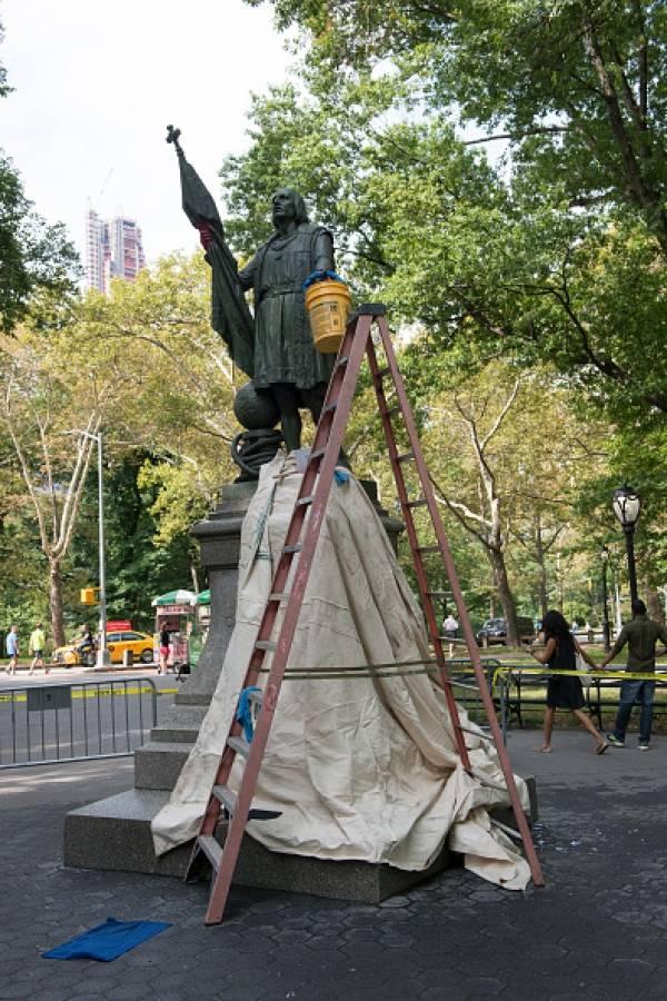 estatua Colón Central Park