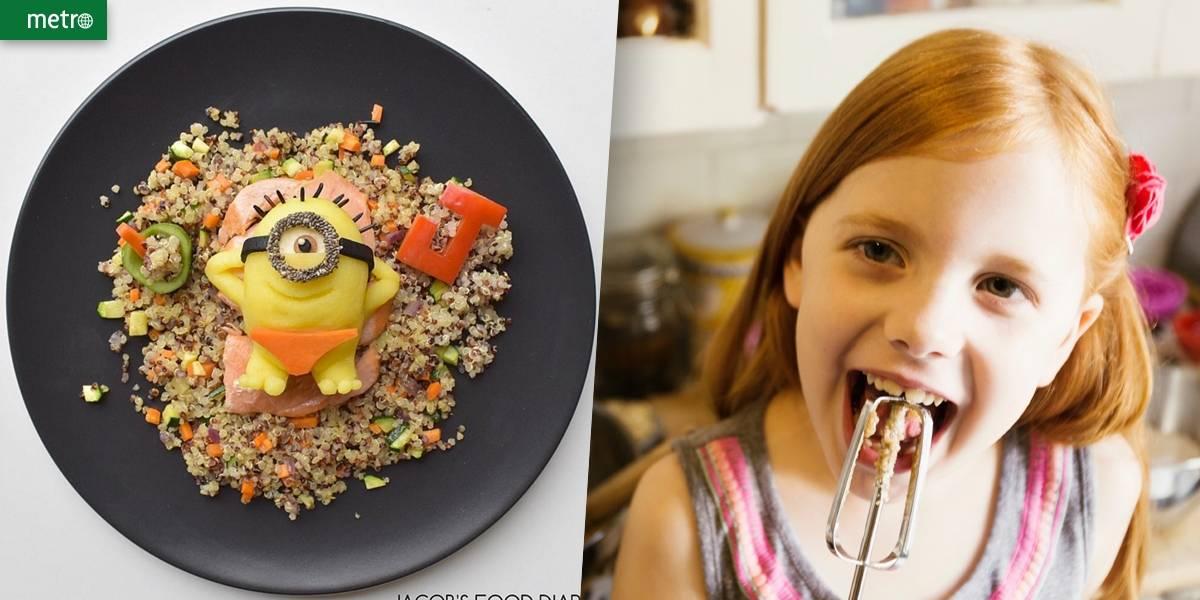 Comida para criança ver, brincar e comer!