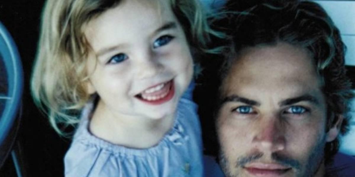Hija de Paul Walker publica emotiva foto de su padre