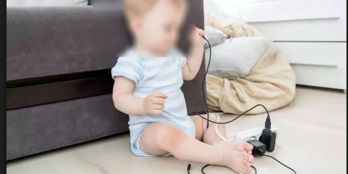 Menor de tres años muere electrocutado con un cargador de celular