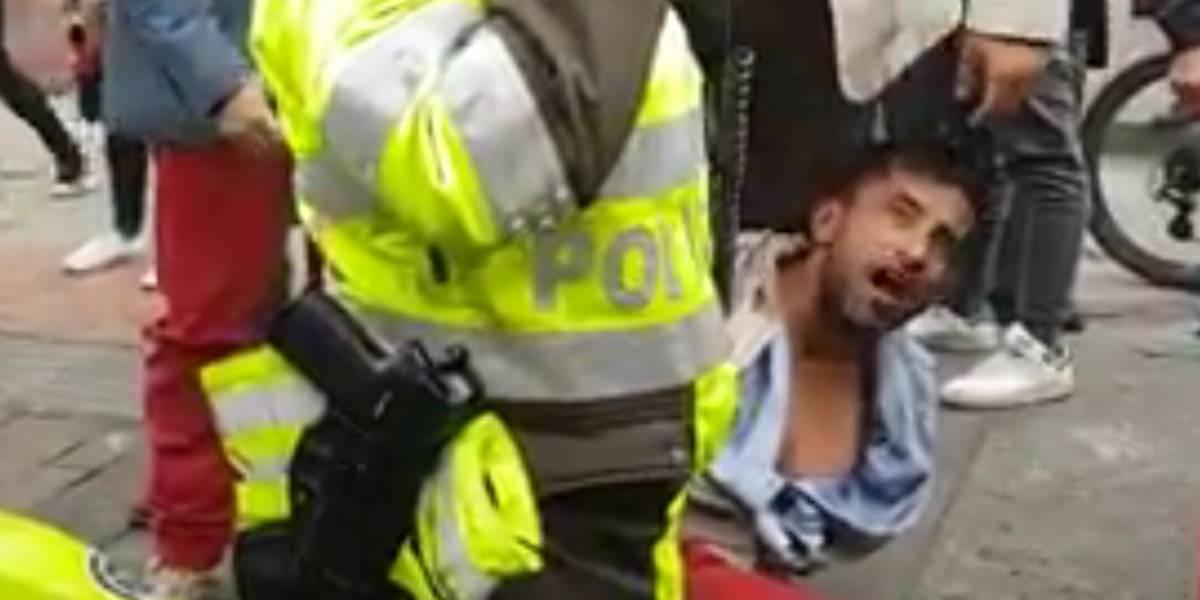 Video: Este es el momento en que linchan a un ladrón en Bogotá