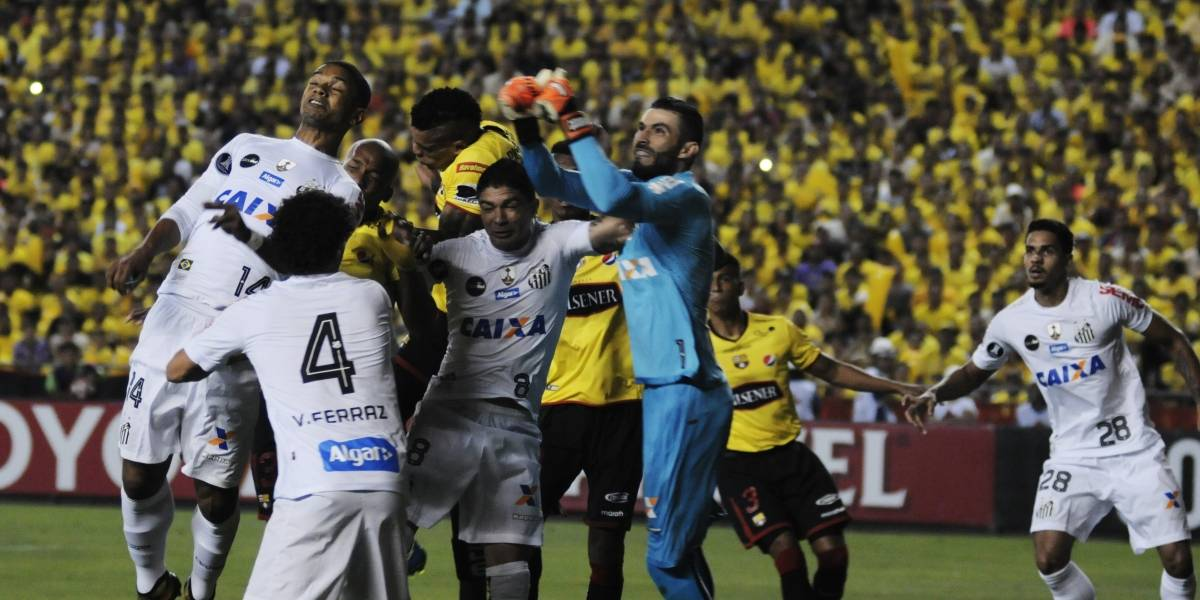 Barcelona SC igualó 1-1 ante Santos de Brasil