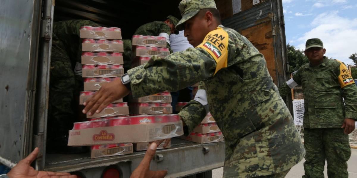 Reconoce Peña Nieto labor del Ejército en atención a víctimas del sismo