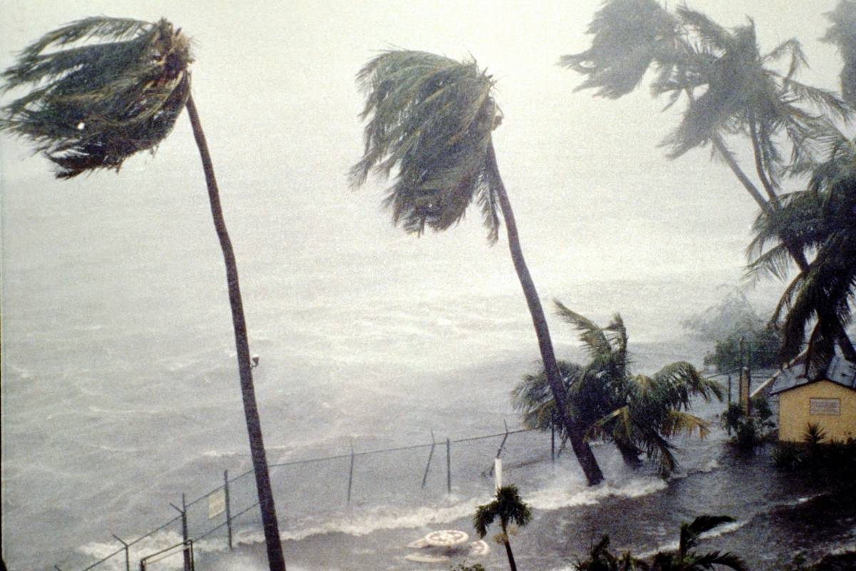 El huracán Hugo, en Puerto Rico.