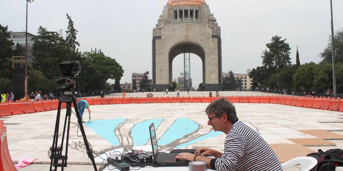 Fotos: Comienzan pintura tridimensional al Monumento a la Revolución