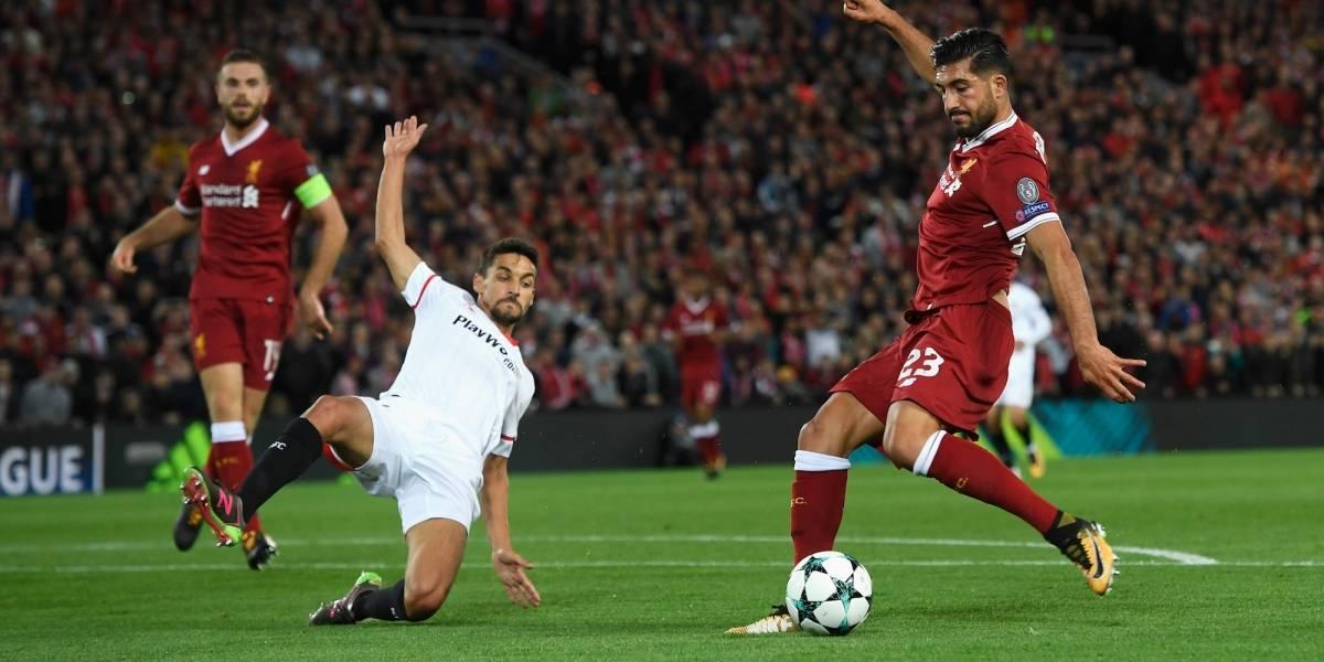 Liverpool no pudo con Sevilla en Anfield dentro de la Champions