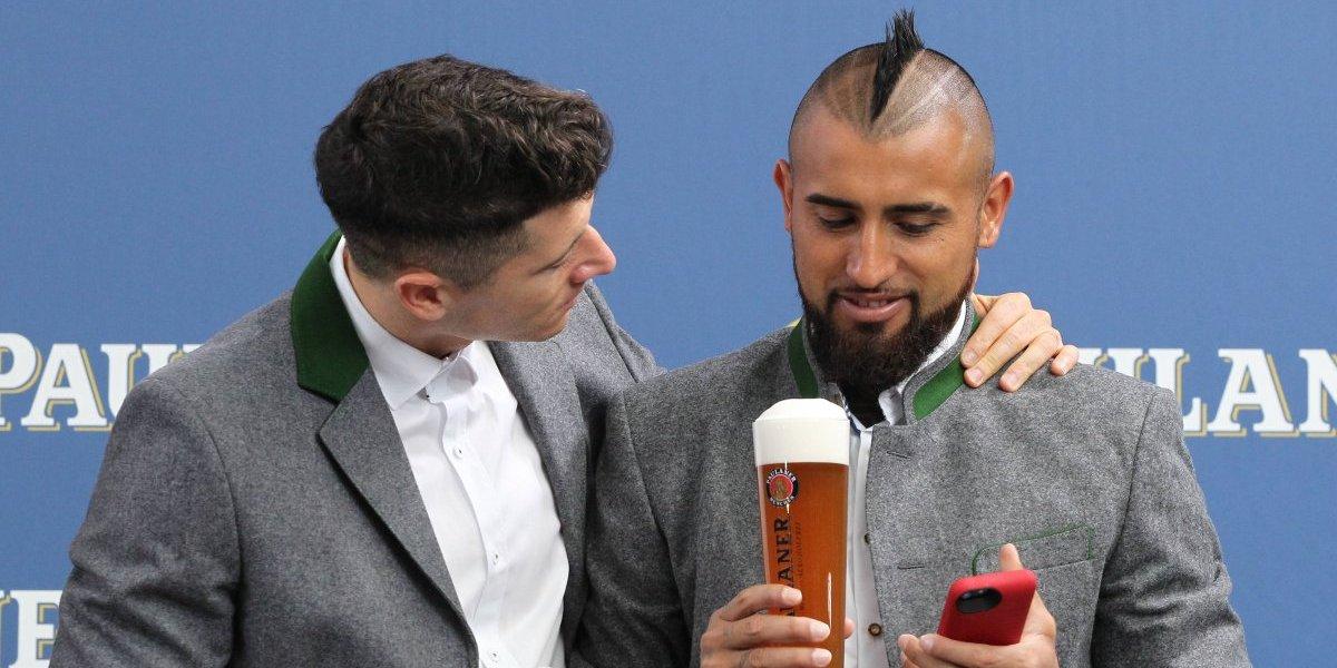 Vidal y el Bayern comenzaron a festejar la Oktoberfest en Munich