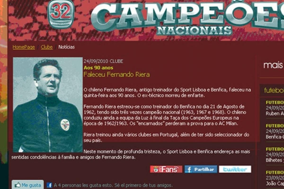 Riera es recordado en Portugal por sus campañas en Benfica, pero también tuvo un paso por Sporting de Lisboa