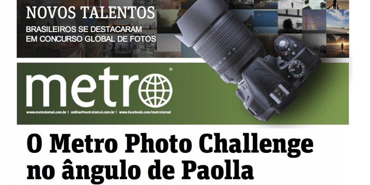 Participantes do Metro Photo Challenge ganham capa especial do Metro Jornal