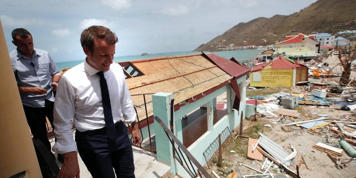 Francia y Gran Bretaña prometen ayuda para Caribe tras Irma