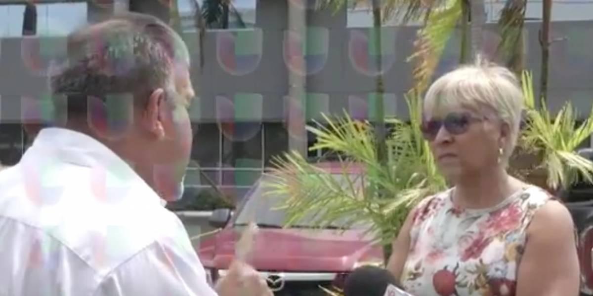 Ciudadana interrumpe entrevista para increpar a Figueroa Jaramillo