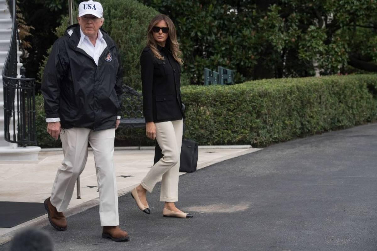 Melania Trump llevó zapatos apropiados