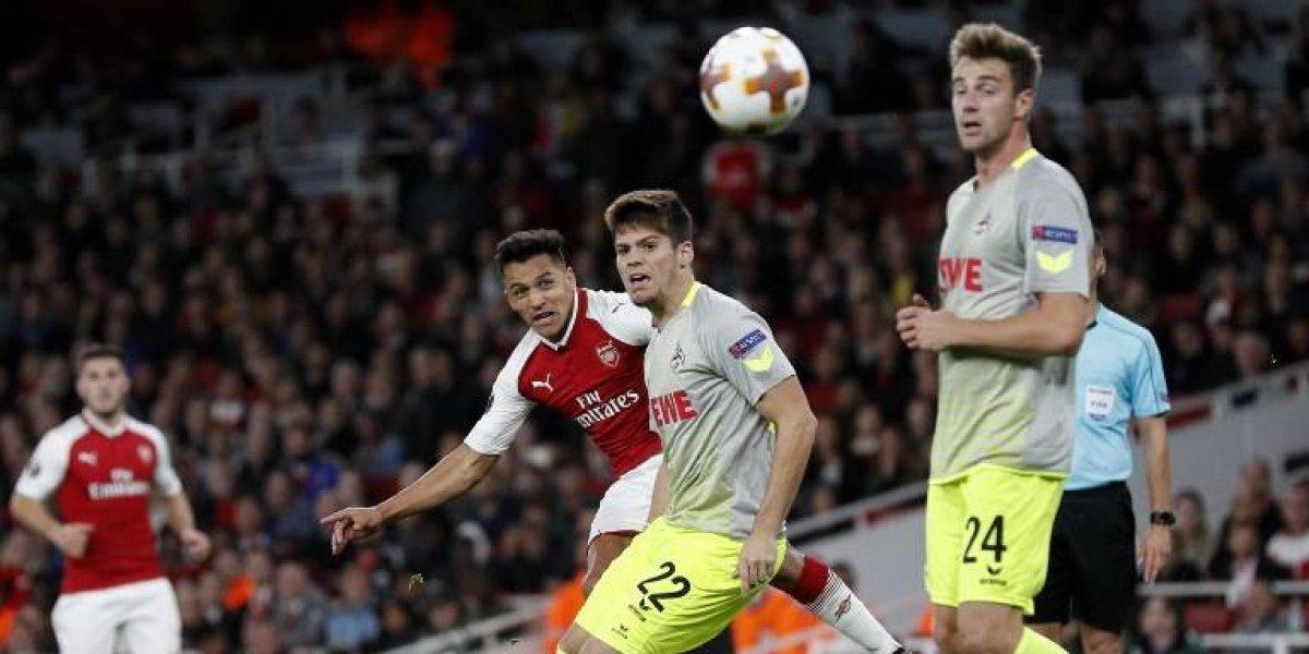 Remate colocado y arquero de estatua: el golazo de Alexis en la Europa League