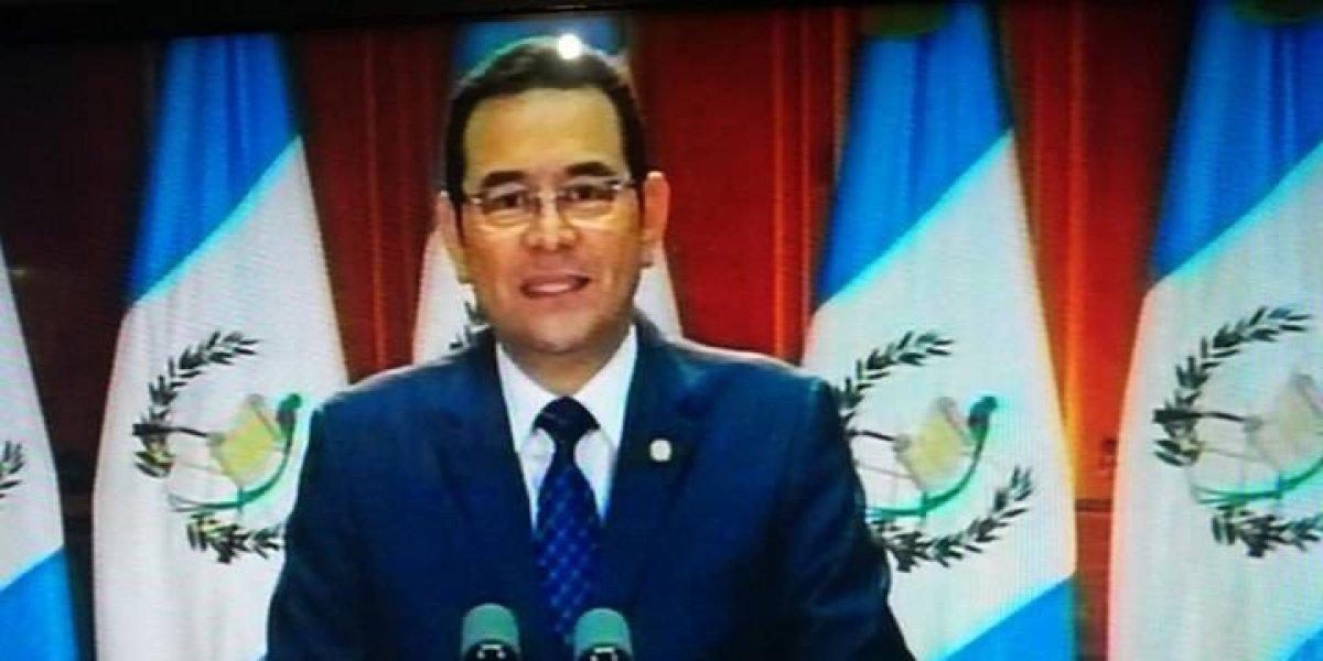 Jimmy Morales analizará las reformas al Código Penal aprobadas por el Congreso