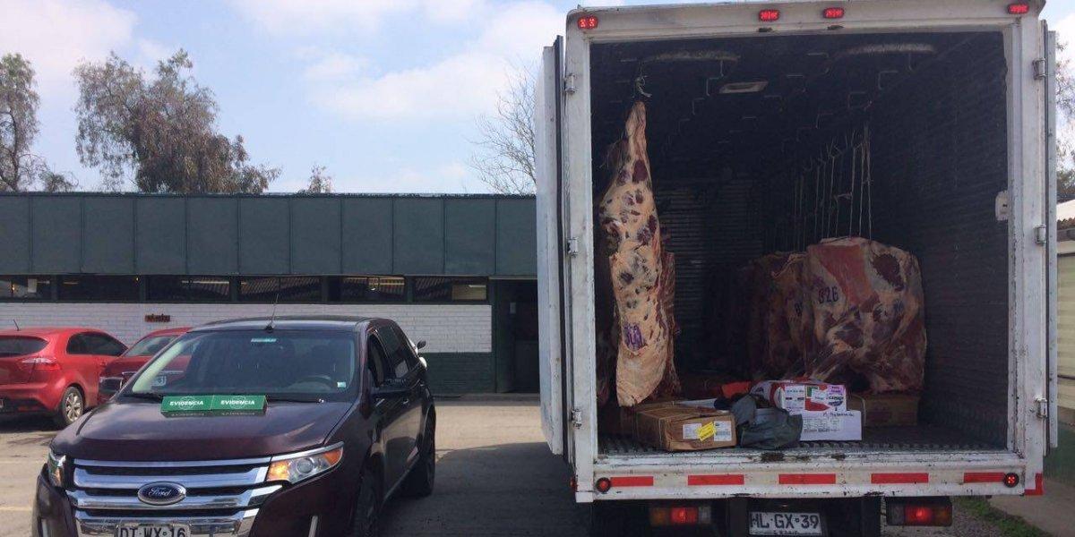 Se pasaron: Intentaron robar 4 mil kilos de carne antes de fiestas patrias