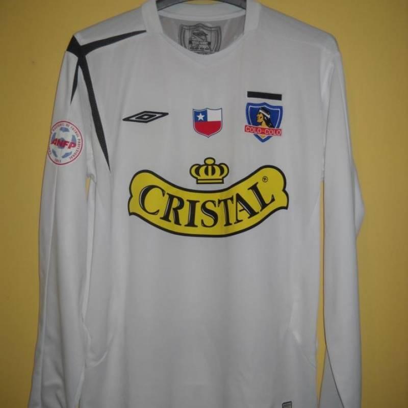 2006: La primera camiseta Umbro de los albos con la que llegaron a la final de la Copa Sudamericana