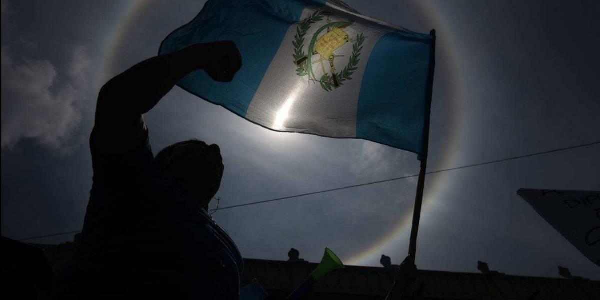 Halo solar aparece en cielo de Guatemala durante manifestaciones por #PactodeImpunidad