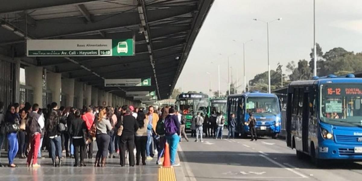 ¡Atención! Bloqueo en portal de TransMilenio a esta hora