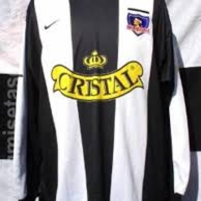 2001: Camiseta a rayas que se utilizó en la Supercopa (Nike)