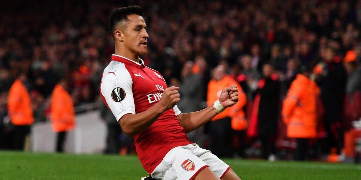 """Alexis maravilló con una """"joya"""" en debut ganador del Arsenal en la Europa League"""