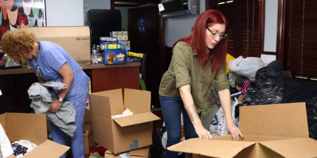 Daniela Droz recoge ayuda para víctimas huracán Irma