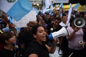 Manifestantes Plaza de la Constitución
