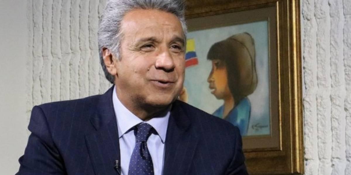 Lenín Moreno afirma que 17 millones de ecuatorianos apoyan a Perú rumbo a Rusia 2018