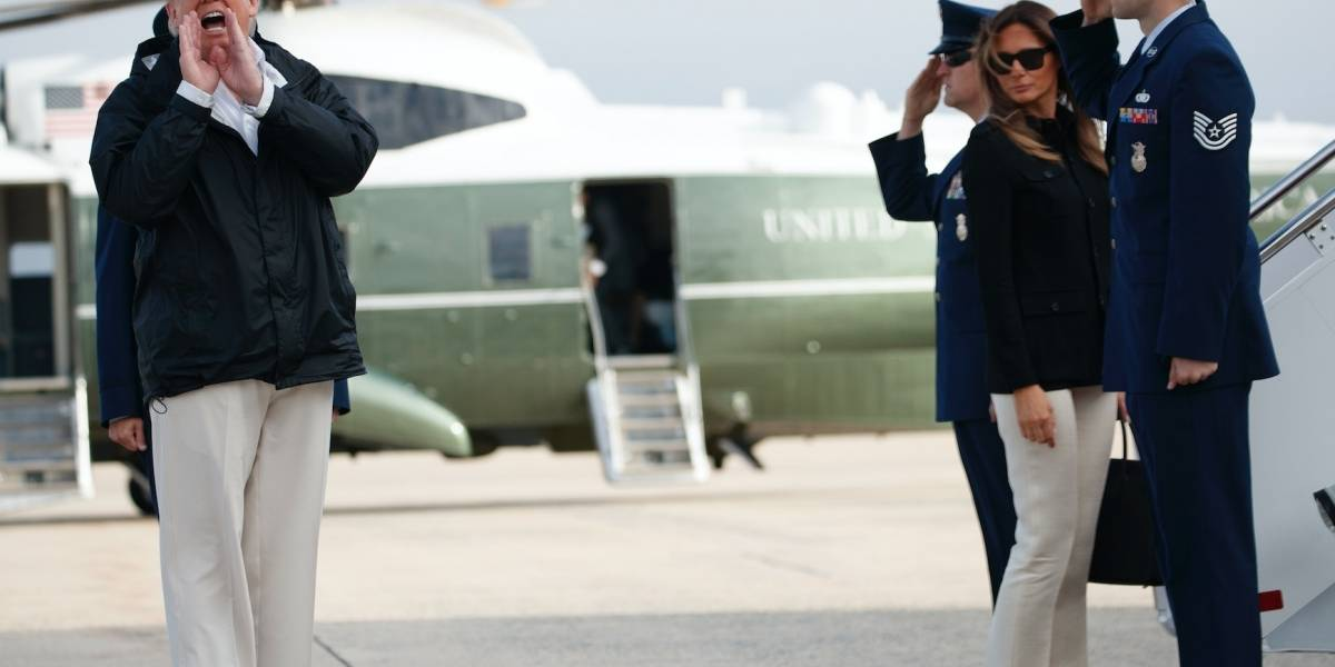 Trump recorre zona devastada por Irma