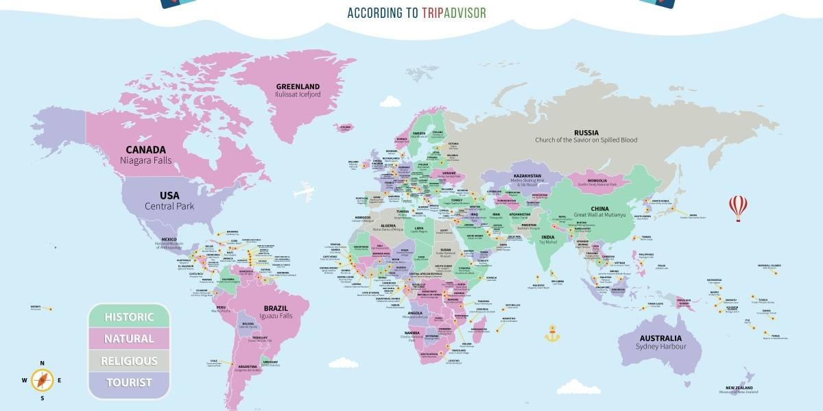 Eligen la máximo atracción turística de cada país