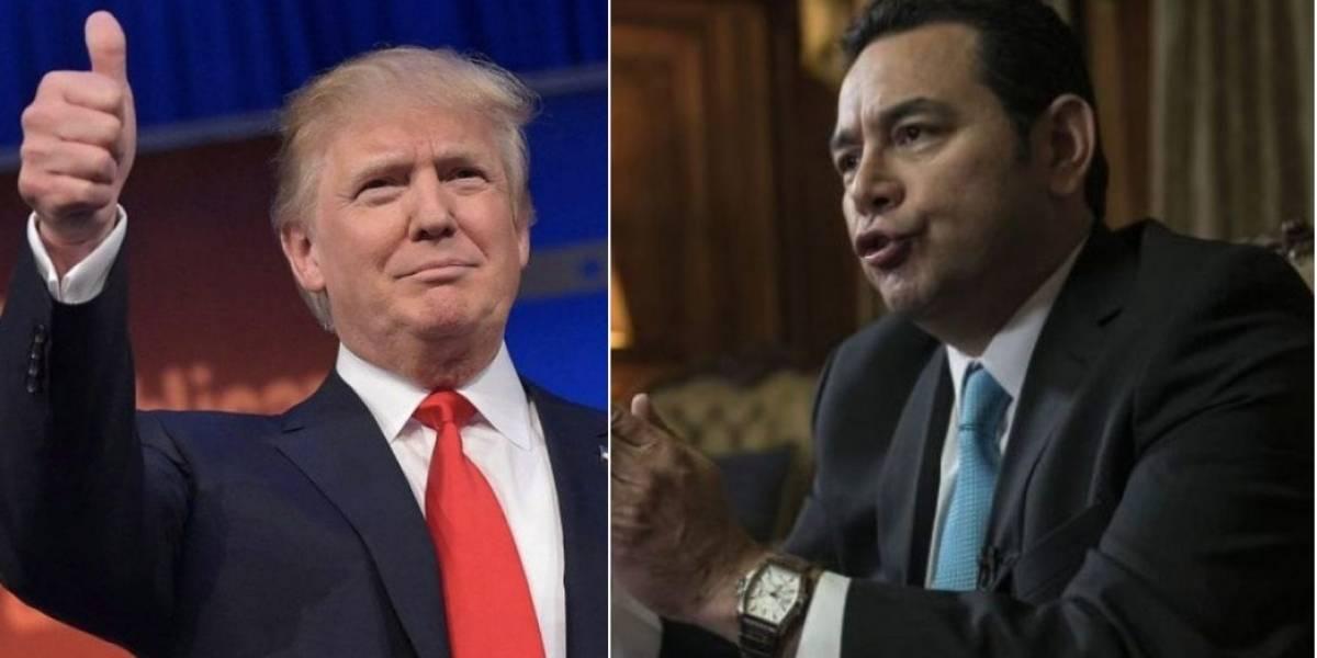 El mensaje que Donald Trump le envía al Presidente Jimmy Morales