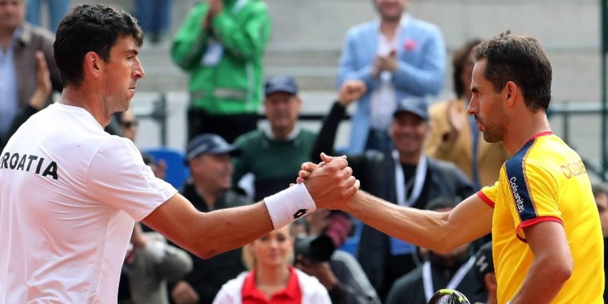 Santiago Giraldo sufre para vencer a Skugor pero empata serie entre Colombia y Croacia