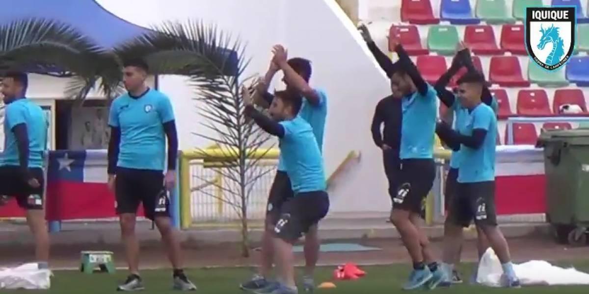El plantel de Deportes Iquique festejó con todo la previa de las Fiestas Patrias