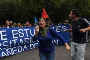 Lenina García, secretaria general de la Asociación de Estudiantes Universitarios.