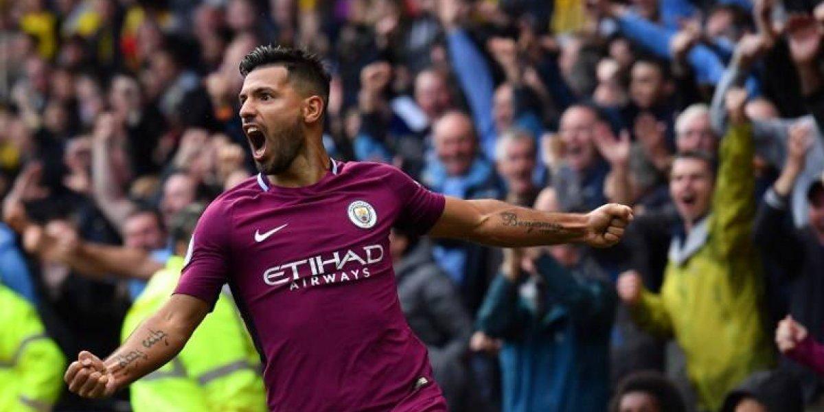 El Kun Agüero le puso sabor argentino a la aplastante goleada del City al Watford