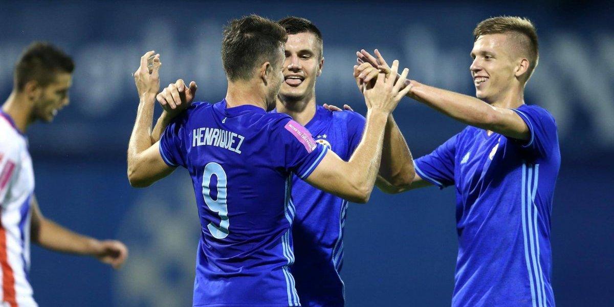 """Angelo Henríquez aportó con un gol en la victoria de Dinamo Zagreb"""""""