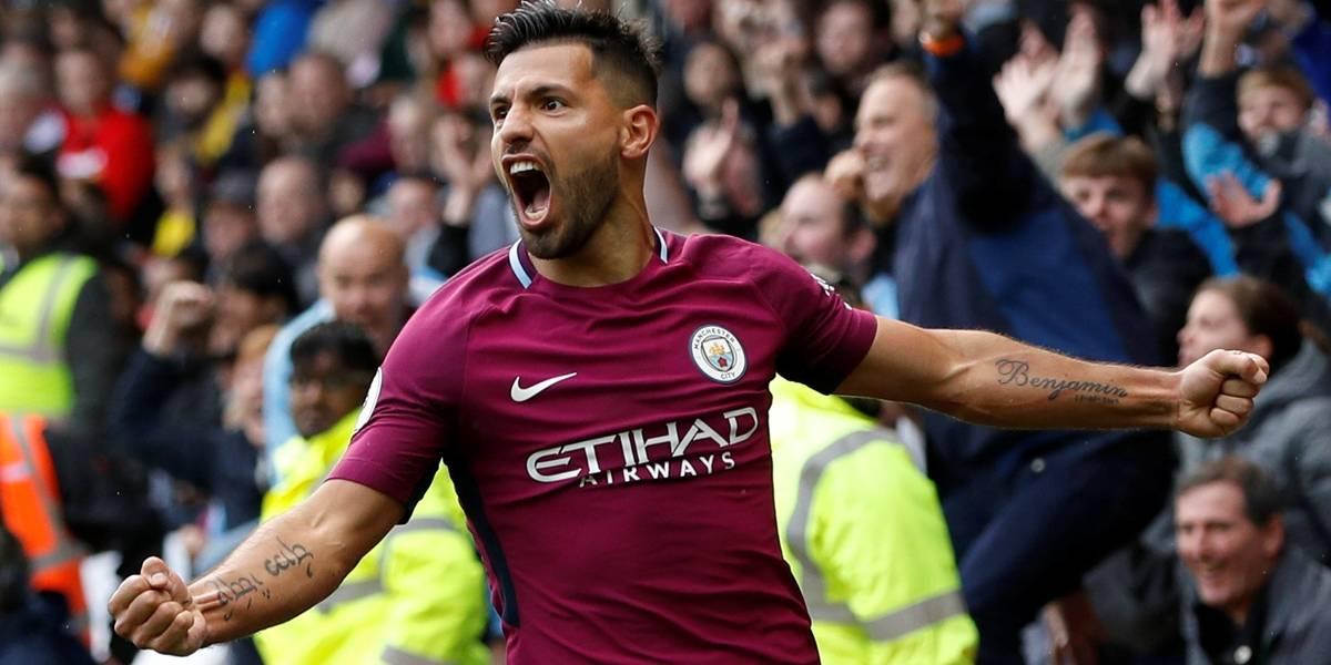 Agüero renova até 2021 e completará dez anos como jogador do Manchester City