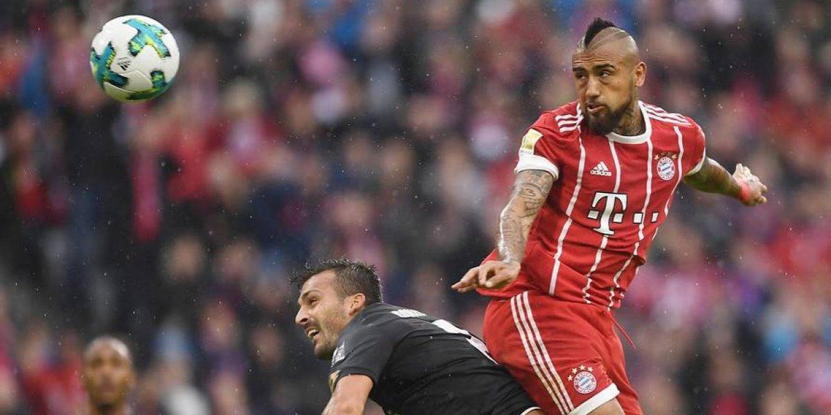 Vidal reapareció tras sus turbulentos días con la Roja en sólida goleada del Bayern