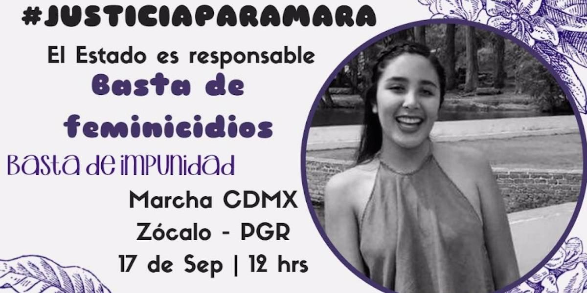 ¡Ni una más! Convocan a marchar en México por feminicidio de Mara Castilla