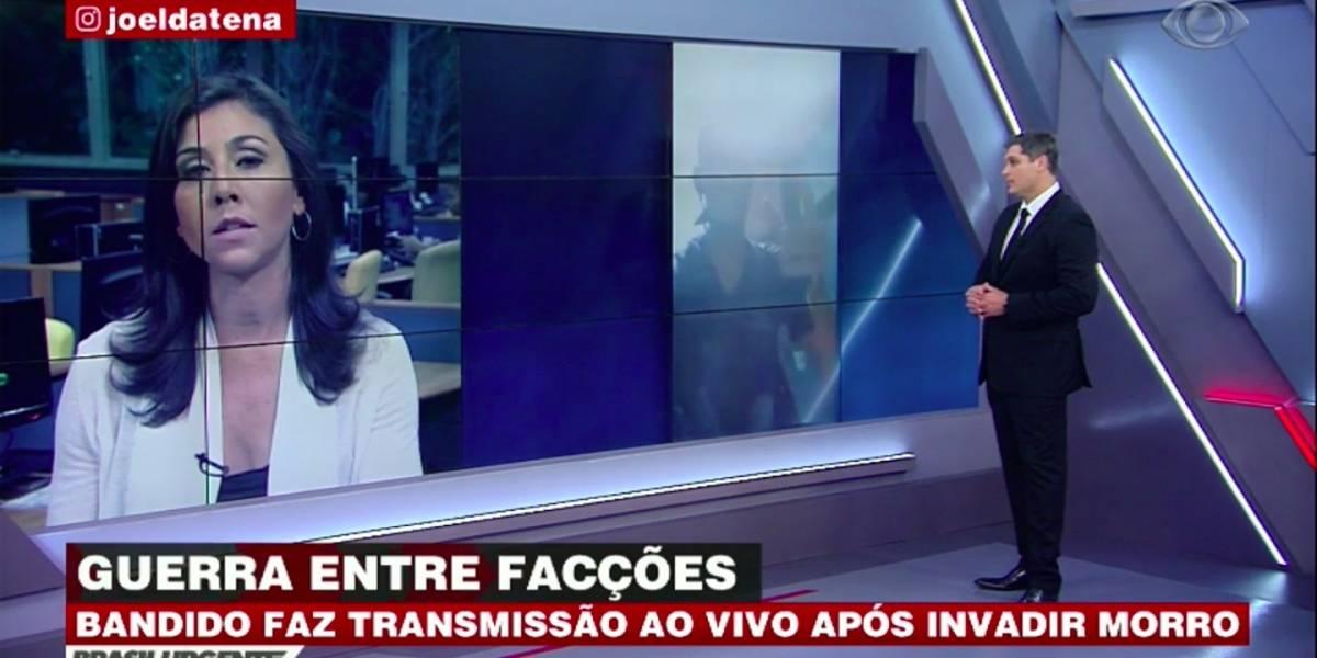 Bandido faz transmissão ao vivo ao invadir morro