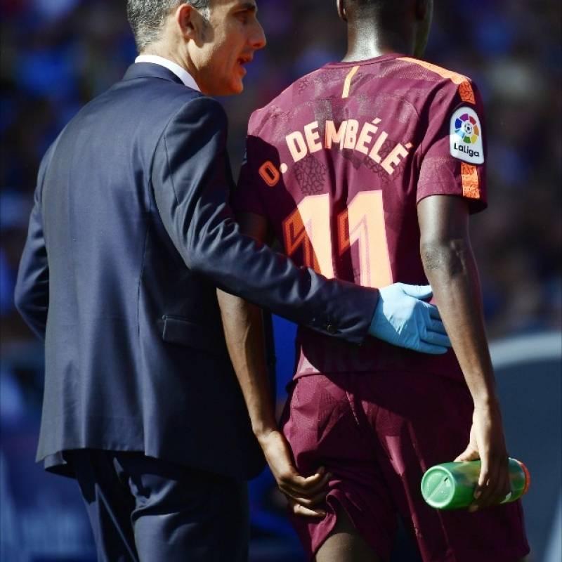 Dembele se lesionó y estará afuera hasta 2018