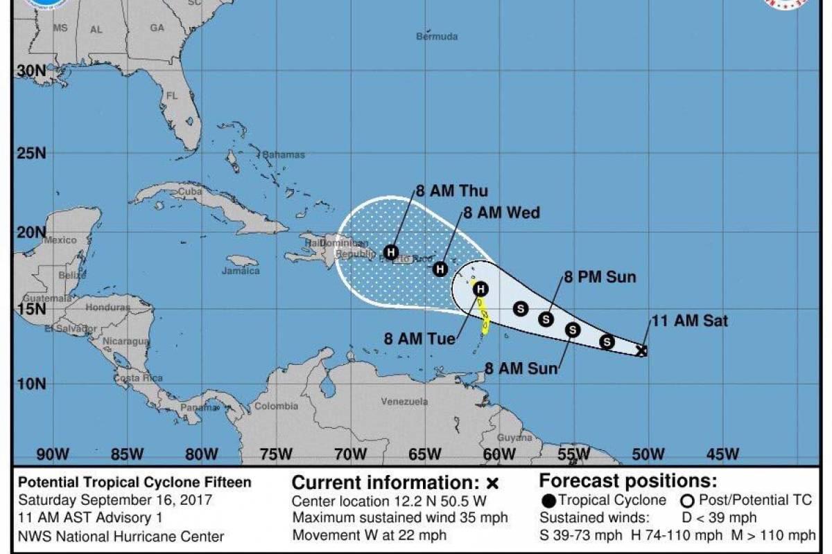 Pronostican que tormenta tropical María se convierta en huracán
