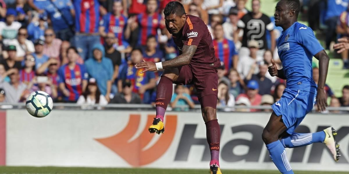 Paulinho anota primer gol y el Barcelona remonta al Getafe